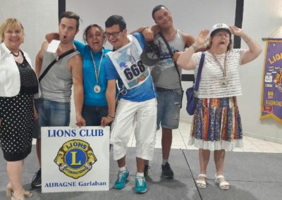 Remise du chèqe du Lions Club