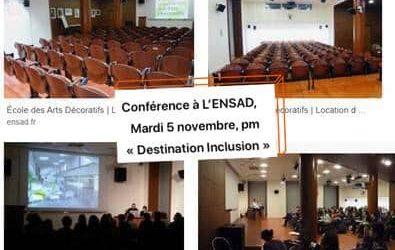 Conférence à l'ENSAD